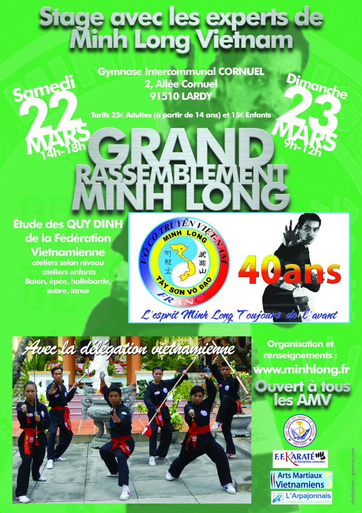 Affiche GRT Minh Long - LARDY - 22 et 23 Mars 2014