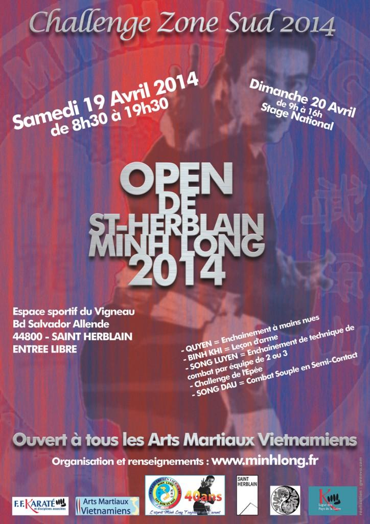 Affiche Open de ST HERBLAIN Minh Long2014